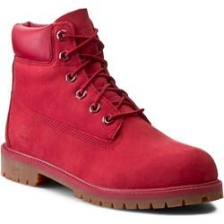 buty timberland czerwone