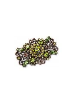 Broszka olivine kiara-sztuczna-bizuteria-jablonex zielony  - kod rabatowy