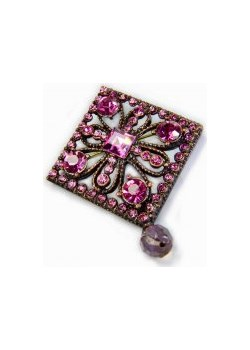 Broszka różowa kiara-sztuczna-bizuteria-jablonex fioletowy  - kod rabatowy