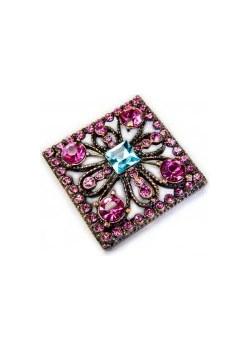 Broszka kwadratowa kiara-sztuczna-bizuteria-jablonex fioletowy  - kod rabatowy