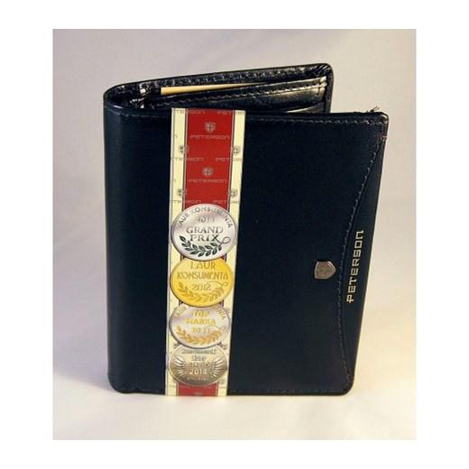 09f4d8f56794d ... Elegancki skórzany portfel męski PETERSON Czarny stylowagalanteria-com  czarny wiosna ...