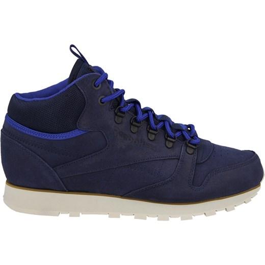 def6e68e BUTY MĘSKIE SNEAKERSY REEBOK CLASSIC LEATHER MID TRAIL V62859  sneakerstudio-pl niebieski marynarski w Domodi