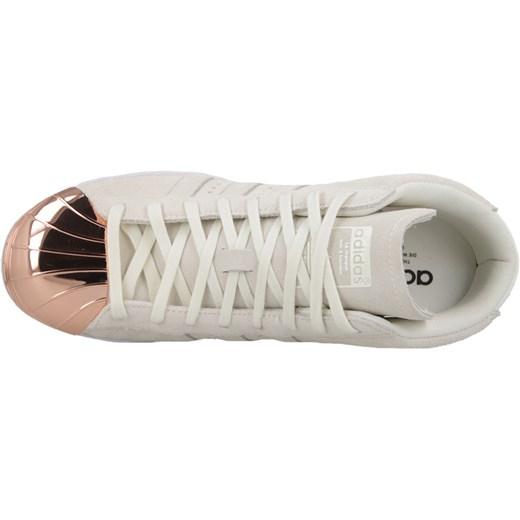 Buty damskie koturny sneakersy Adidas Originals Superstar Up Metal Toe S79384 sneakerstudio pl szary płaska podeszwa