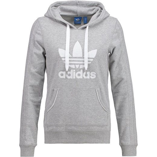 c61e66153 adidas Originals Bluza z kapturem medium grey heather zalando szary bawełna  ...