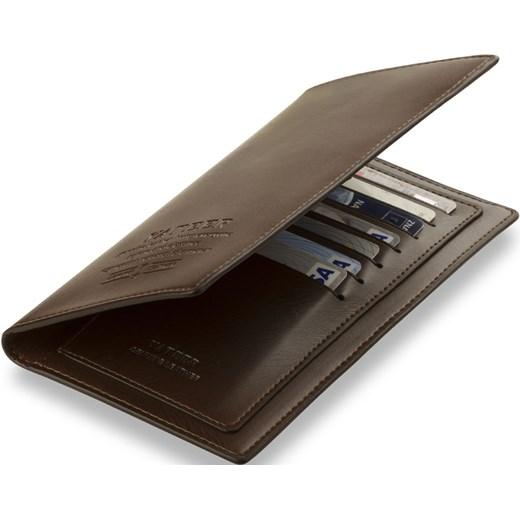b5079eba64c62 ... ETUI ORGANIZER MĘSKI NA DOKUMENTY KARTY - CZARNY world-style-pl brazowy  skóra ...