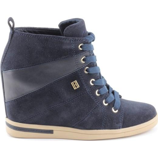 61a6bcab92e94 Sneakersy Tommy Hilfiger SEBILLE 5C Midnight 2052-492 zebra-buty-pl szary  Sneakersy ...