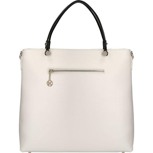 db09a6b0e1dab ... bezowy elegancki; Biało-czarna torebka do ręki kazar-com bezowy glamour  ...