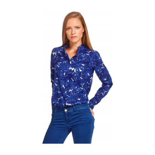 Granatowa koszula damska Lambert wolczanka niebieski inne koszule