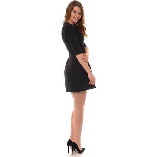 1b1136f3 Mała Czarna Rozkloszowana Sukienka brendi-pl czarny mini