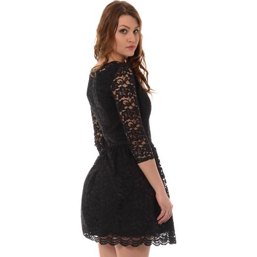 e6652e1edd ... Rozkloszowana Sukienka Koronkowa Czarna brendi-pl czarny sukienki  koronkowe ...