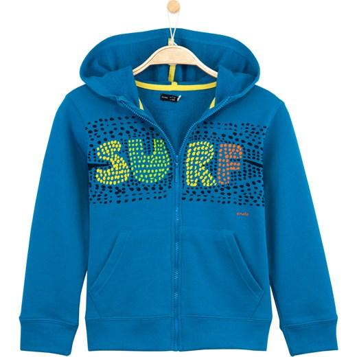 e55a54d79d50dd Rozpinana bluza z kapturem dla chłopca endo niebieski Bluzy chłopięce  rozpinane w Domodi
