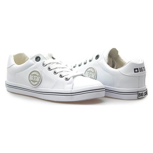 d0946217df Trampki Big Star U274050 Białe arturo-obuwie szary casual w Domodi