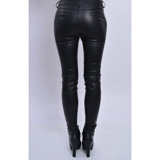 Spodnie skórzane klasyczne rurki cocomoda pl czarny klasyczny