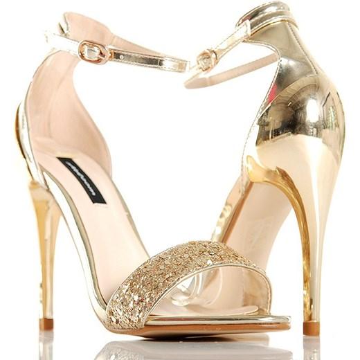 złote sandały do sukienki