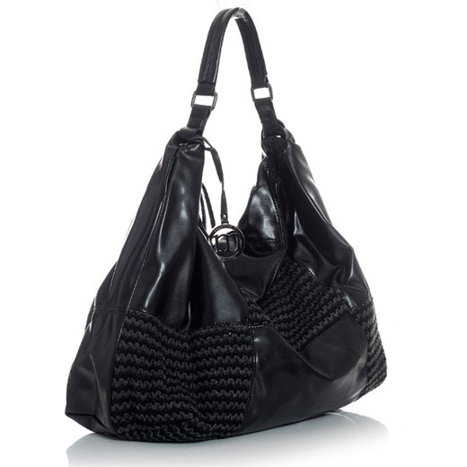 06195fd9554bb MONNARI Torebka worek XXL czarny verostilo czarny abstrakcyjne wzory ...