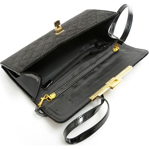 e8a1e080e25ed ... czarny elegancki · Modna kopertówka czarna pikowana welur EMANUEL  verostilo szary glamour ...