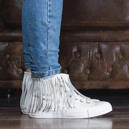 f20bd6abdb1b Buty damskie sneakersy Converse Chuck Taylor All Star Fringe 551643C  sneakerstudio-pl niebieski boho ...
