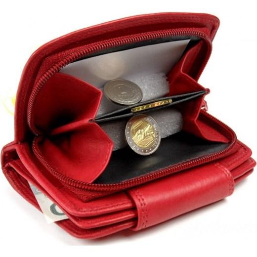 bc13720ff0796 Portfel Damski Skórzany MONEY MAKER Skóra licowa13 cm z Suwakiem na  zewnątrz Kuferek torebunie brazowy damskie