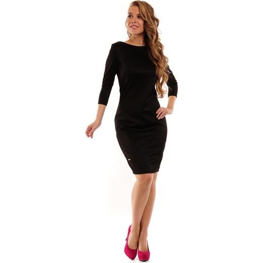 d62f3f8ae8 Lemoniade Elegancka klasyczna seksowna sukienka ołówkowa Kloe czarna  arkanymody czarny do pracy