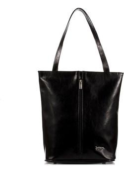 DAN-A T304 czarna torebka ze skóry naturalnej Dan-A  Skorzana.com - kod rabatowy