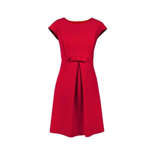 1bb61fdd02 Suknia koktajlowa Kelly malinowa z kokardką semper czerwony Biustonosze