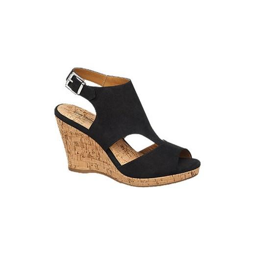 048e36dd23975e sandały damskie na koturnie Graceland Deichmann w Domodi