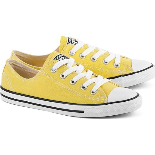 d7df6134587cb CONVERSE Chuck Taylor All Star Dainty - Żółte Canvasowe Trampki Damskie -  551513C Converse zielony 36