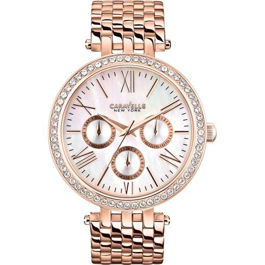 9251e0f5dc28a0 ZEGAREK CARAVELLE 44N101 Nowoczesne Zegarki na rękę e-watches bezowy damskie  w Domodi