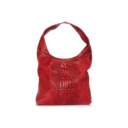 5e30dc1d5e21c Vera pelle Torby na ramię Modna torebka skórzana aligator Czerwona (kolory)  spartoo czerwony damskie w Domodi