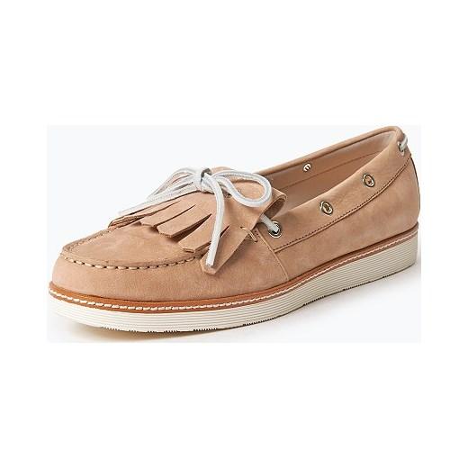 e96b3b3d97e89 Tommy Hilfiger - Pantofle damskie ze skóry – Macy 1N, beżowy pomaranczowy  vangraaf