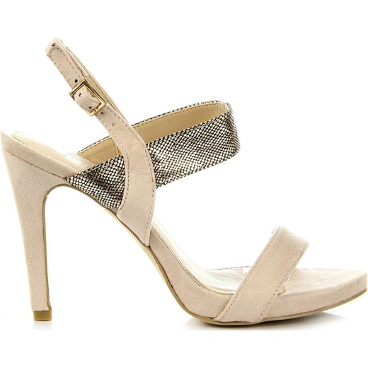 5cbdb15740ad6 ... VINCEZA beżowe sandały damskie szpilki z motywem skóry węża bezowy  Vinceza 35 ButyRaj.pl ...