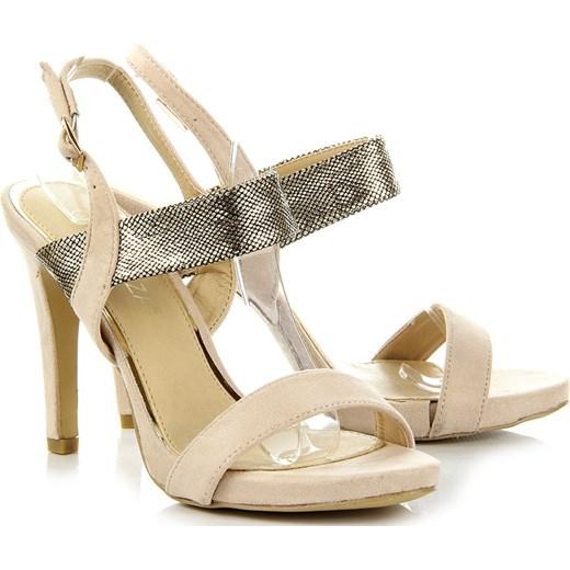 f17f2ef0d2319 ... VINCEZA beżowe sandały damskie szpilki z motywem skóry węża bezowy  Vinceza 36 ButyRaj.pl ...