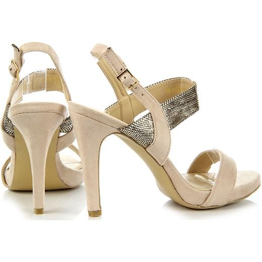 4cbfe3c1f0955 ... VINCEZA beżowe sandały damskie szpilki z motywem skóry węża bezowy  Vinceza 37 ButyRaj.pl ...