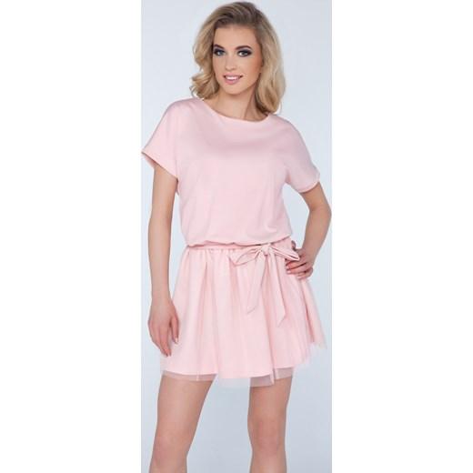 468221c1de Sukienka Kate pudrowy róż bezowy Limoda 36 limoda.pl ...