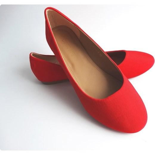 396e78d2a6 Baleriny damskie czerwone balerinki duże rozmiary Cink-Me czerwony Family  Shoes