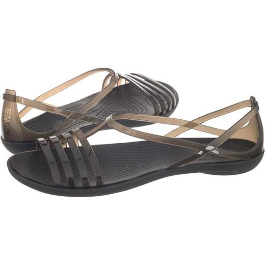 Sandały Crocs Isabella Sandal W Black 202465-001 (CR100-a) szary ButSklep.pl Buty Damskie YU czarny Sandały damskie CNRU