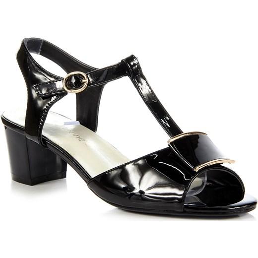 9600a48464e3 SERGIO LEONE czarne sandały lakierowane na słupku Sergio Leone 37  ButyRaj.pl ...