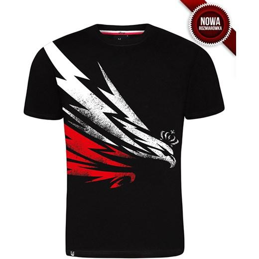 7fe87303c Koszulka patriotyczna Orzeł Błyskawica (CZARNA) Surge Sport czarny Surge  Polonia