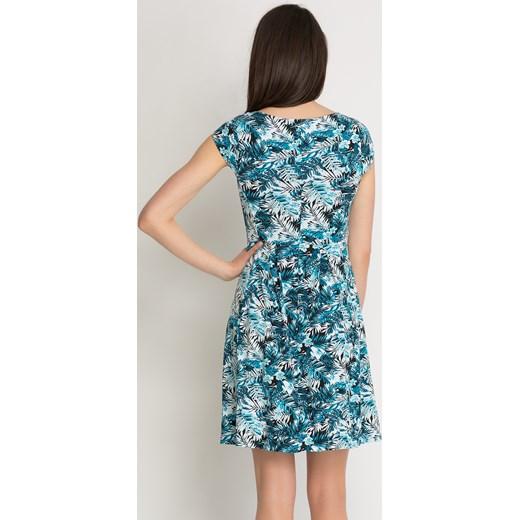 2079421c71 Jerseyowa sukienka w palmy Orsay orsay.com w Domodi