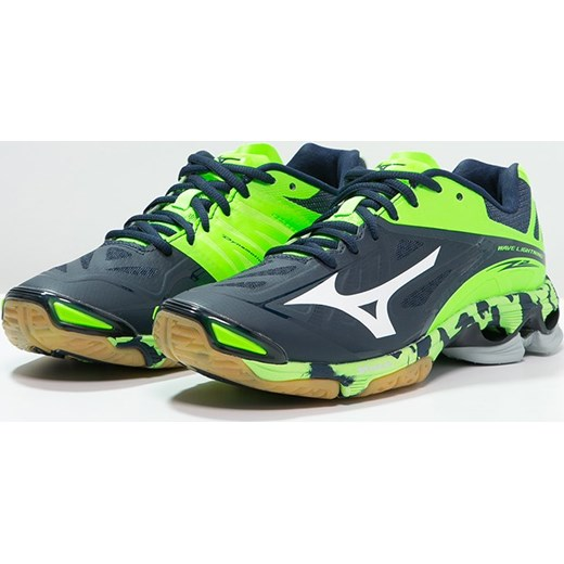 e006c09e Mizuno WAVE LIGHTNING Z2 Obuwie do siatkówki dress blues/white/green gecko  zielony Zalando w Domodi