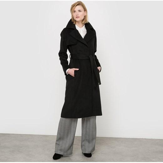 f3ae38429b8f Długi płaszcz z sukna wełnianego czarny Atelier R 50 La Redoute.pl okazja