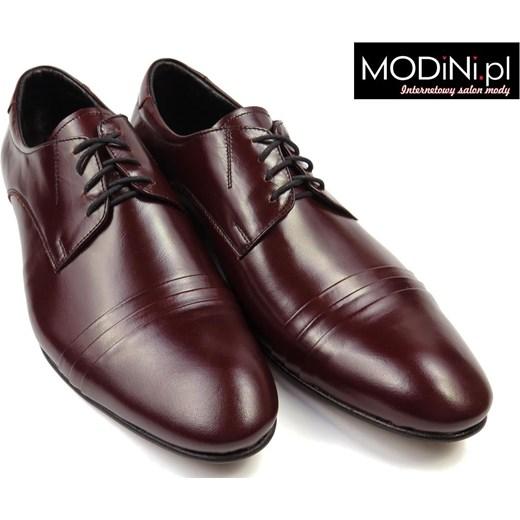 ce61efaf33fe7 ... Bordowe buty męskie Faber z zakładkami Faber - Obuwie Męskie szary 40  Modini okazyjna cena ...