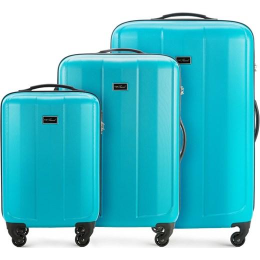 cc1b5301af49c V25-10-77X-77 Komplet walizek na kółkach Vip Collection turkusowy wyprzedaż  WITTCHEN ...