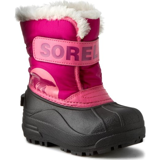 Śniegowce SOREL - Childrens Snow Commander NC 1877-652 Tropic Pink/Deep Blush Sorel  25 eobuwie.pl
