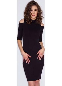 Sukienka Sexy Cutout Czarna XS Miss Trouble szary Misstrouble.pl wyprzedaż  - kod rabatowy