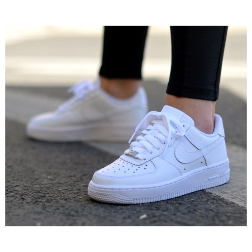 new style 087d5 fc0ae Buty Nike Air Force 1 Low (GS) All White (314192-117) ...