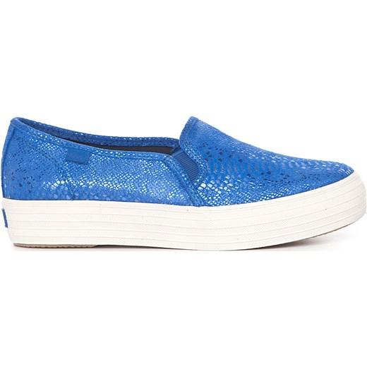 b3031fa46a5ae Keds Buty Damskie Triple Deck Shimmer Blue niebieski Newmodel.pl w ...