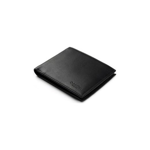 f01d21a1ad5a2 Cienki portfel męski skórzany Calvin Klein S07 C czarny Calvin Klein Galmark