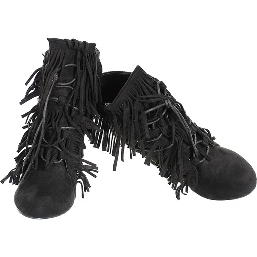 c6ed11be92e43 ... ZAMSZOWE BOTKI FRĘDZLE SŁUPEK czarny 38 Family Shoes ...