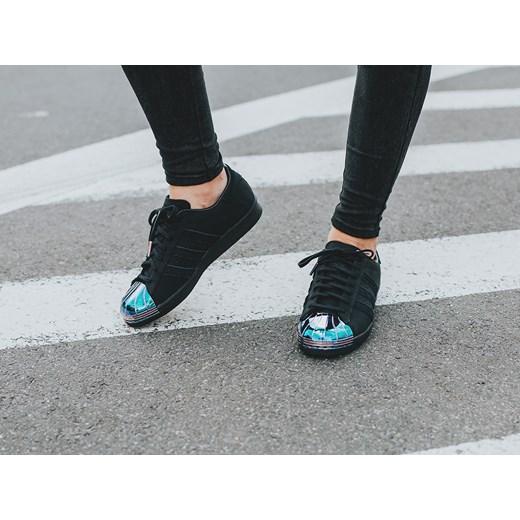 Buty damskie sneakersy adidas Originals Superstar 80s Metal Toe S76710 czarny sneakerstudio.pl